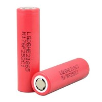Battery LG HE 2 18650 2500mAh 3.7V Merah - FLAT TOP Rechargeable