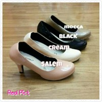 REAL PICTURE HIGH HEELS 7CM 7 CM OWN WORKS KERJA FORMAL POLOS GLOSSY