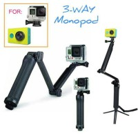 Monopod 3 Way for GoPro, XiaoMi Yi, SJ Cam, dsj