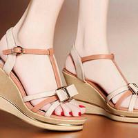 sandal sepatu wanita wedges tali mocca UNUD