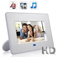 "DIGITAL FOTO FRAME 7"" Video Mp3 Player Photo Lagu Musik Film Audio LCD"
