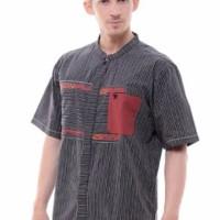 Baju Muslim Pria Nibras Koko NK 06 hitam dan marun