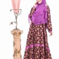 Gamis Muslim Nibras Syar'i NS 11 Coklat