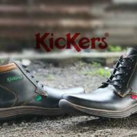 PROMO MURAH sepatu casual formal kerja pria kickers high semi boot