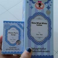 Jual GLUTA WINK WHITE LOTION +SABUN ORIGINAL 100% Murah