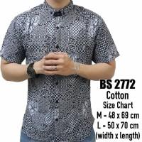 harga Kemeja BAtik Pendek Pria Cowok 2772 hitam putih motif abstrak casual Tokopedia.com