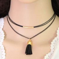 Kalung Choker Forever21 Tassel Double Layer