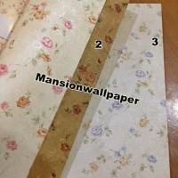 Jual Wallpaper Dinding Bunga Sweet Shabby Chic Murah