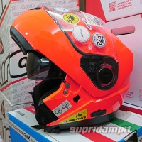 harga Helm Nolan N104 HI-VISIBILITY Fluo orange, helm modular touring Tokopedia.com