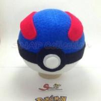 Boneka pajangan pokeball greatball anime game pokemon go