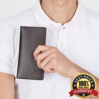 Dompet Pria Kasual - FAMO Long Black Wallet