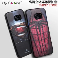 Casing Samsung S7 Edge Case 3d Captain Spiderman Super Man Iron/ Like