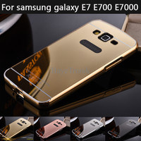 bumper mirror samsung galaxy E7 aluminium bumper with back case RNJG