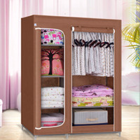NEW Multifunction Wardrobe / Cloth Rack with cover rak lemari pakaian