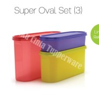Tupperware Super Oval Set (Toples Oval) DISKON PROMO