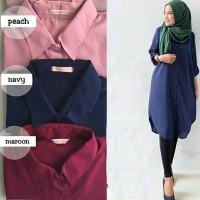 harga Ready long top arina hnf] pakaian wanita muslim gamis kemeja Tokopedia.com