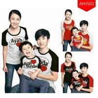 Kaos Keluarga I Love Ayah & Bunda ( 3 KAOS )