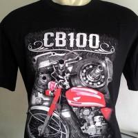 harga Kaos Motor Klasik Honda CB 100 Tokopedia.com