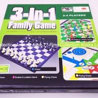 3 in 1 BOARD GAME CATUR / ULAR TANGGA / HALMA