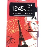Oppo Joy Flipcase Paris Softcase Leather Case Flip Cover Casing Hp