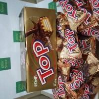 Snack Utk Bersantai Wuenak, Wafer Bersalut Coklat Top Delfi Eceran