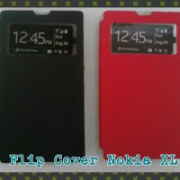 Nokia XL Flip Cover/Leather Case/Sarung HP Murah