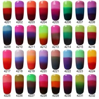 3-in-1 Thermal Color Changing Nail Gel Polish UV LED