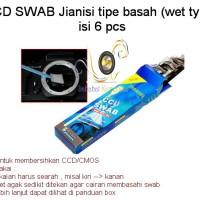 CCD SWAB Jianisi tipe basah isi 6pcs untuk membersihkan sensor kamera