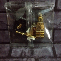 Lego Mr Gold / Gold man Minifigure NO BOX Bootleg
