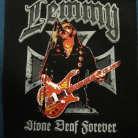 Lemmy Kilmister Motorhead - Stone Deaf Forever. Back Patch