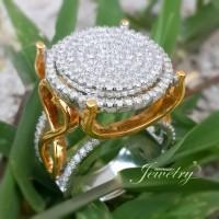 PROMO Cincin Besar BERLIAN EROPA Natural Diamond Ring Emas 40%