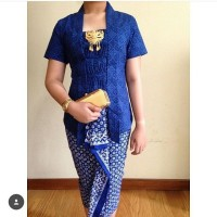 Batik Cap Mix Embos Blue