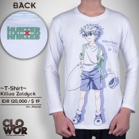 Killua Zoldyck Anime Hunter X Hunter Baju Tshirt Kaos Distro