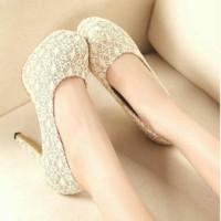 Harga sepatu sandal wanita cewek high heels brukat 21 tan jual dg   WIKIPRICE INDONESIA