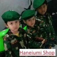 Pakaian seragam anak Tentara / TNI - AD ( Army ) baju, celana, topi