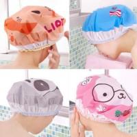 Jual Shower Cap Karakter Topi Mandi Tutup Kepala Kartun Lucu Murah