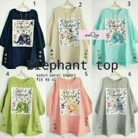 Elephat top / atasan blouse wanita hijab