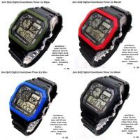 jam tangan QnQ digital countdown timer full set