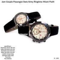 jam tangan couple pasangan swis armi ringtime hitam putih full set