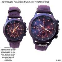 jam tangan couple pasangan swis armi ringtime ungu full set