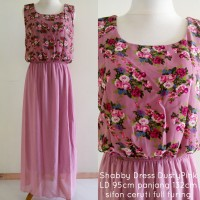SALE maxi dress shabby chic dusty pink sifon chiffon ceruty ceruti