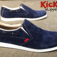 sepatu kickers slipper brown suede K0HD