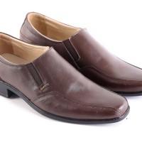sepatu kerja pria pantofel formal/kantor/coklat/kulit [GNW 135]