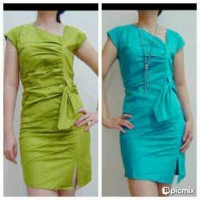 Jual Dress asimetris biru 14 Murah