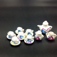 harga Heart Tea Set Miniature - miniatur piring teko cangkir teh Tokopedia.com