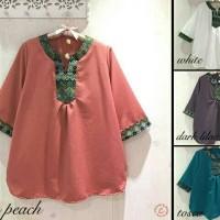 harga JUMBO Syila top - blus wanita jumbo, baju batik songket Tokopedia.com