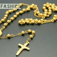 Jual Kalung Titanium Rosario Gold Murah