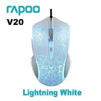 Mouse Gaming Rapoo V20 Lighning RGB (White)