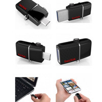 Sandisk Ultra Dual OTG USB Flash Drive 16gb / flashdisk pc laptop hp
