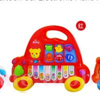 Mainan Piano bentuk mobil / edukasi musikal anak todler baby permainan